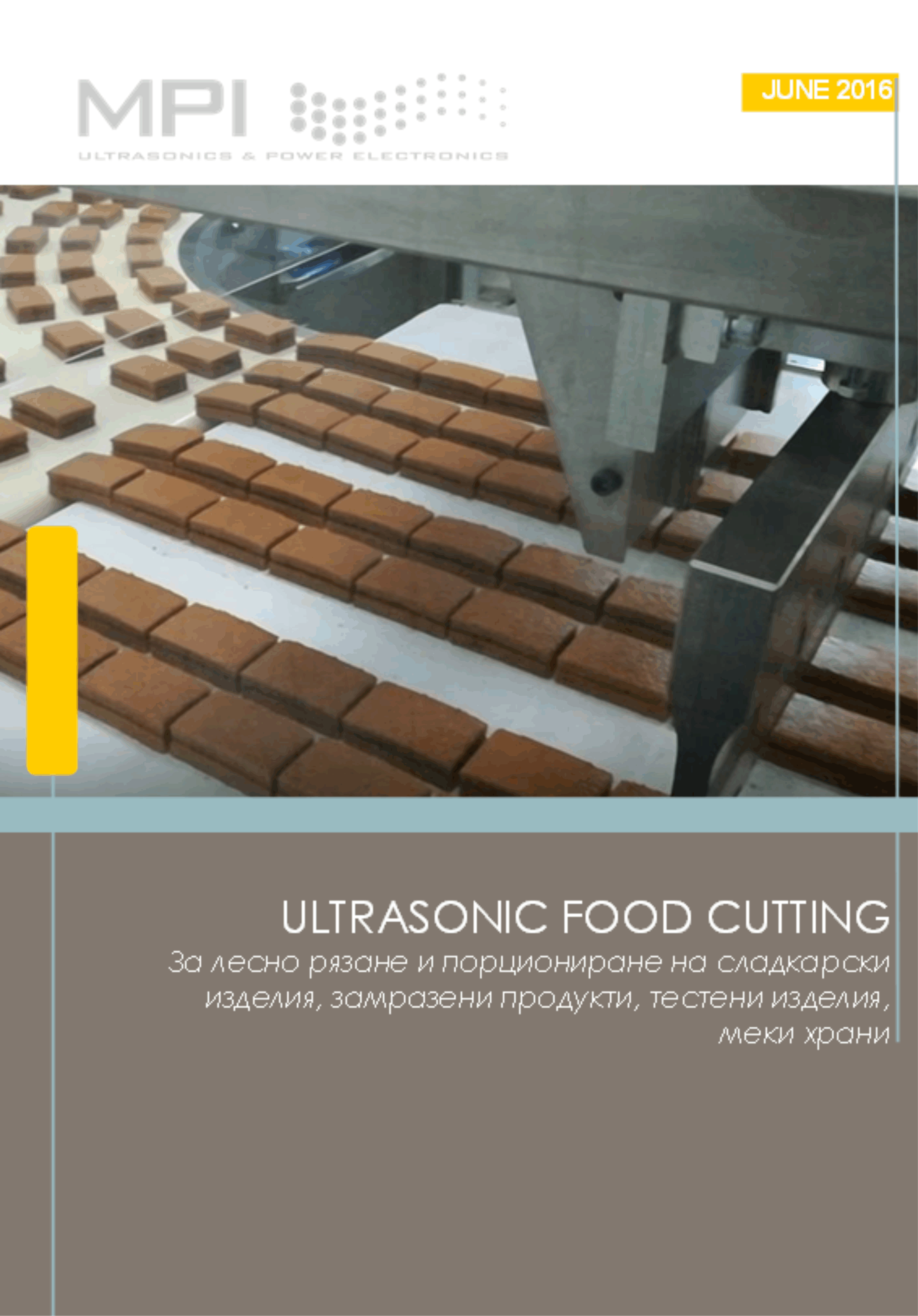 Ultrasonic Food Cutting